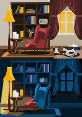 interior set vector illustration