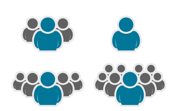 People Group Icons set. Crowd people Icons