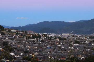 roof top view old town lijiang China