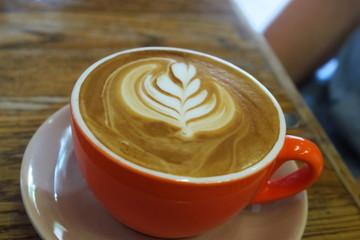 Latte milk flower