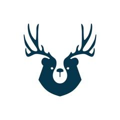 bear deer logo vector for branding or merchandise and t shirt design