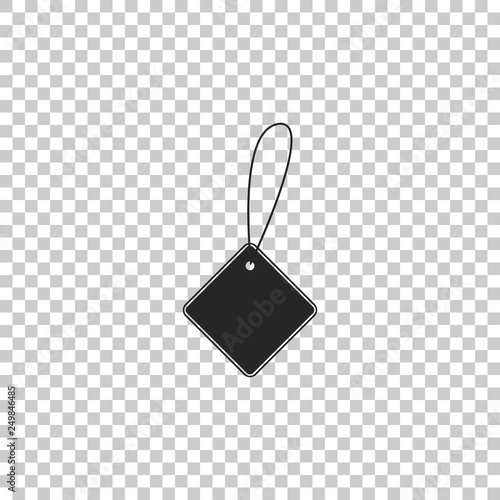 Blank Label Template Price Tag Icon Isolated On Transparent