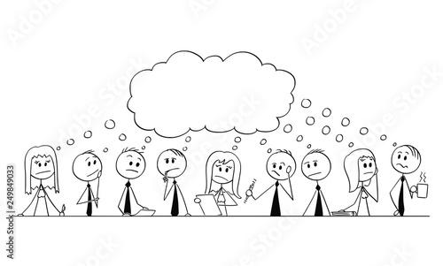 Cartoon Stick Figure Drawing Conceptual Illustration Of Big