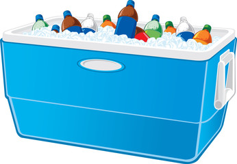 Cooler with drinks