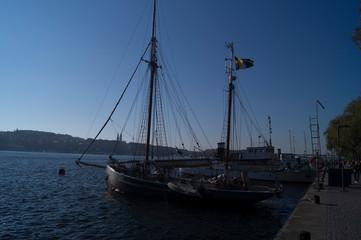 old ship in the harbor in Stockholm, Sweden