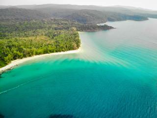 Prise de vue aérienne drone paysage côte thaïlandaise plage