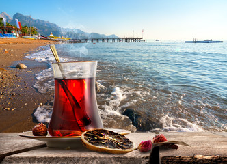 Fototapete - Morning turkish tea
