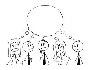 Cartoon Stick Figure Drawing Conceptual Illustration Of Team