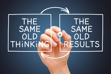 The Same Old Thinking The Same Old Results Concept Wall mural