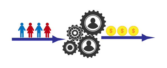 Profit-making mechanism for illustrating presentations, articles and blogs, lead generation
