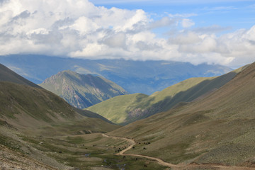 Close up view mountains scenes in national park Dombai, Caucasus