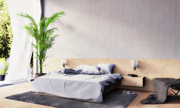 3D rendering - Schlafzimmer