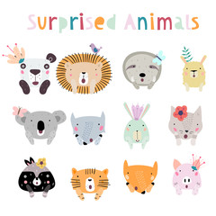 Cute Animals with Crowns
