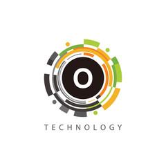 Circle Data Technology O Letter Logo