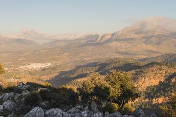 Poster Hill Sierra de las Nieves natural park