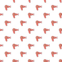 Hairdryer pattern in cartoon style. Seamless pattern vector illustration