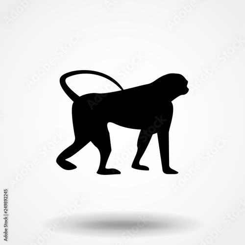 4d985ccdc Vector Stylized Monkey Illustration Isolated On White Background ...