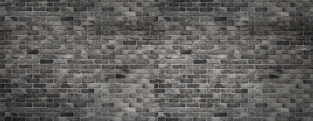 Poster Brick wall gray texture with brick wall for background website or brickwork for design