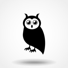 Vector of an owl design on white background, Bird. Animal. Wildlife. Easy editable layered vector illustration.