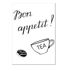 template with an inscription bon appetit