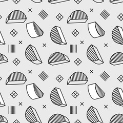 Seamless pattern with 3d graphic elements in pop art style. You can use this as a wallpaper in a childrens room