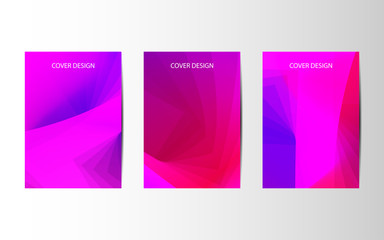 Abstract vector brochures with geometric background, annual report, design templates, future Poster template design