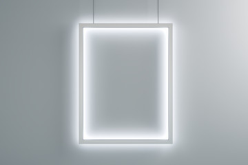 Blank illuminated banner Fototapete