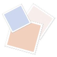 Drei Briefmarken, Illustration