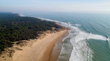 Papiers peints Cote Aerial view of the Atlantic coast in Jard sur Mer, Vendee