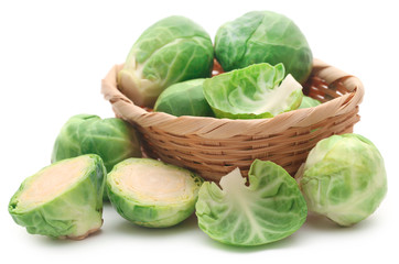 Poster Brussels Rosenkohl or Brussels sprout