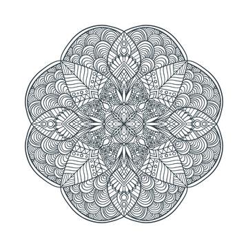 Mandala line drawing vector coloring