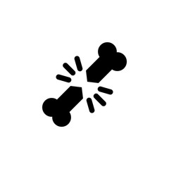 broken bone outline icon. Signs and symbols can be used for web, logo, mobile app, UI, UX