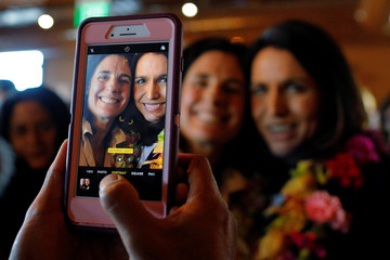 Democratic 2020 U.S. presidential candidate Gabbard poses for a photograph in Portsmouth