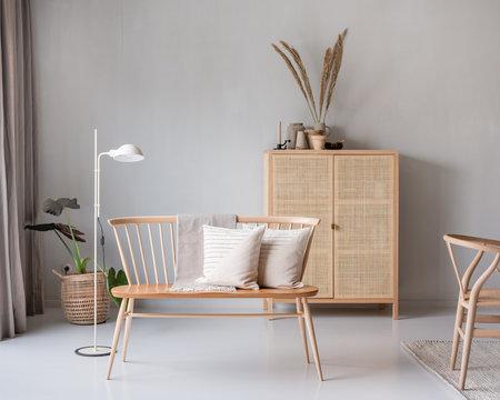 Einrichtung in gedeckten Farben in Skandinavischem Design