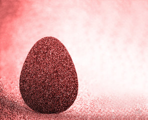 Beautiful creative Easter egg for your design. Easter egg with beautiful bokeh. Card Happy easter.