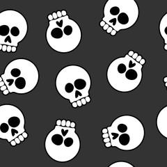 Skull Cartoon Seamless Pattern Background Vector Illustration
