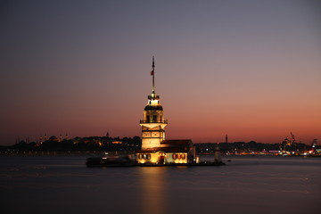 tower at sunset