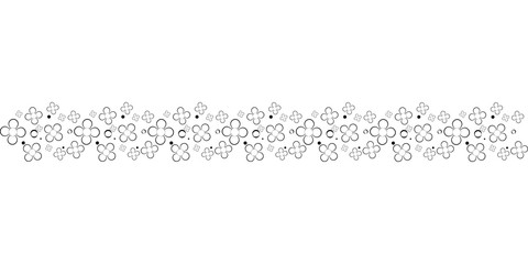 Hand drawn text ornaments flowers illustration