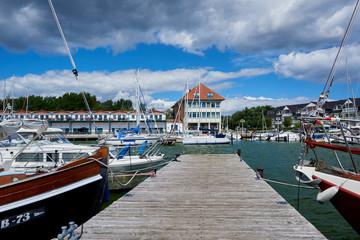 Harbour and marina Karlshagen on Usedom