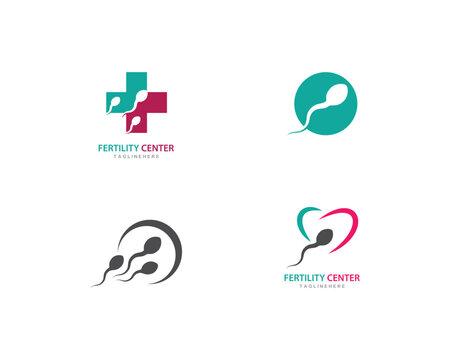 Fertility Sperm logo vector