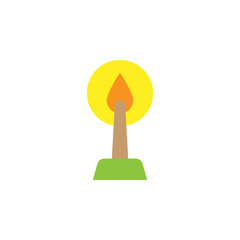 Easter, candle icon. Element of color easter illustration. Premium quality graphic design icon. Signs and symbols collection icon for websites, web design