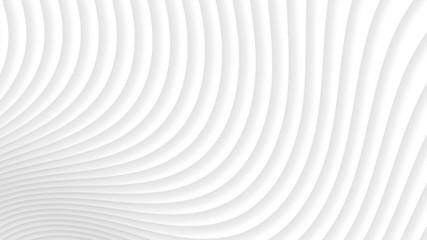 Papiers peints Tunnel Abstract background of gradient curves in white colors