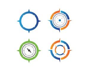 compass logo icon vector template