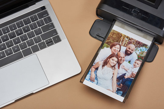 Compact printer with family image