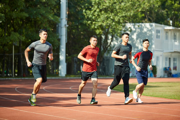 asian track and field athletes training