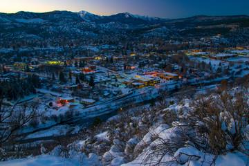 Durango At Dusk In Winter