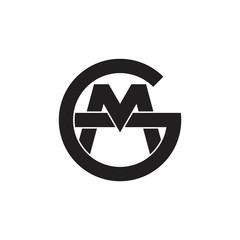 Fototapeta letters gm linked monogram logo vector obraz