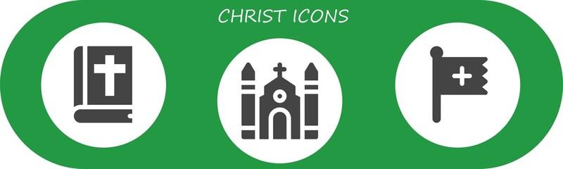 christ icon set
