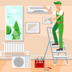 Repair Design Flat Vector Illustration