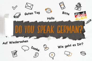 Ein Stück Papier und Frage Sprechen Sie Deutsch